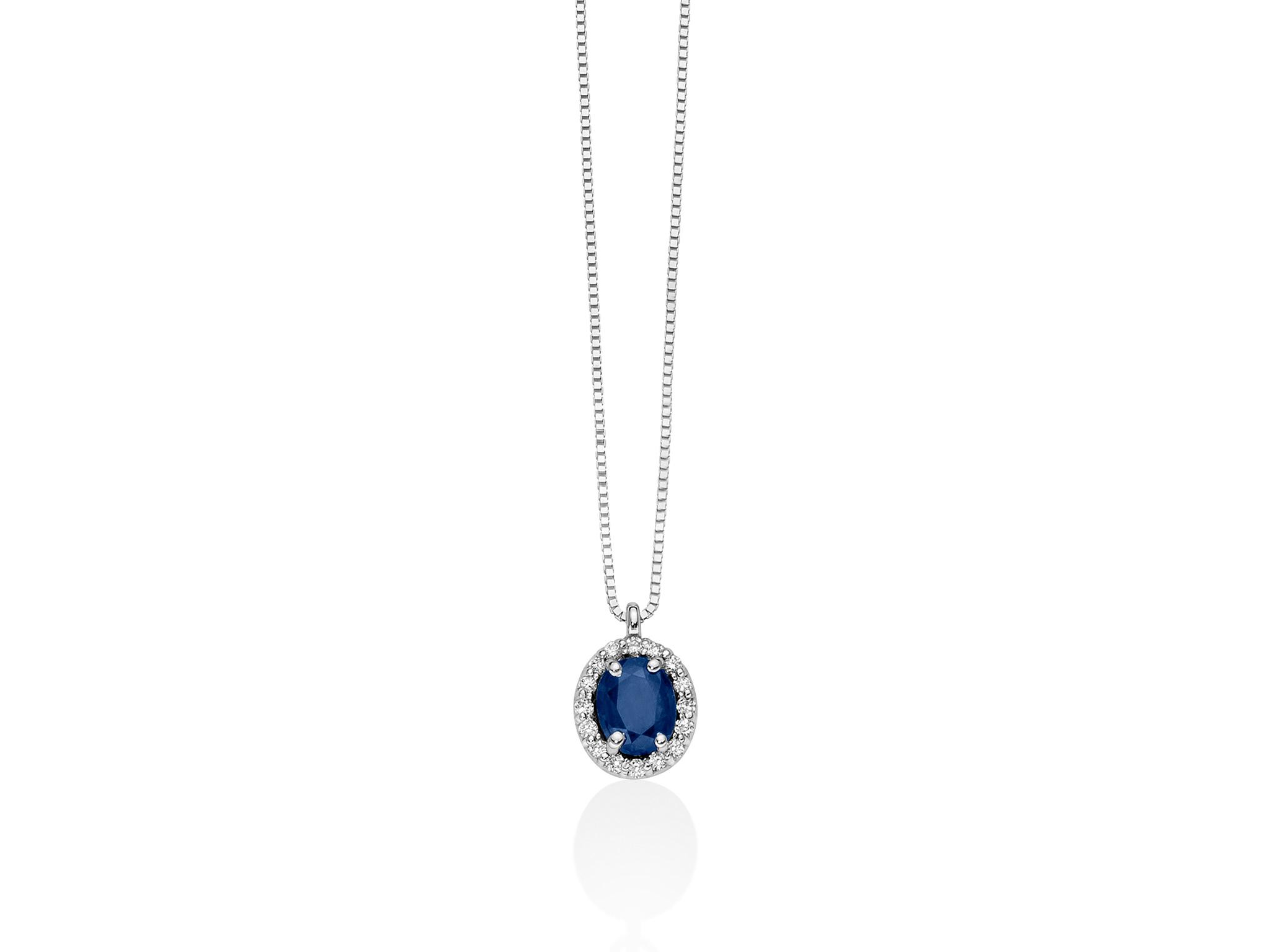 Collana oro, zaffiro e diamanti - CLD4088
