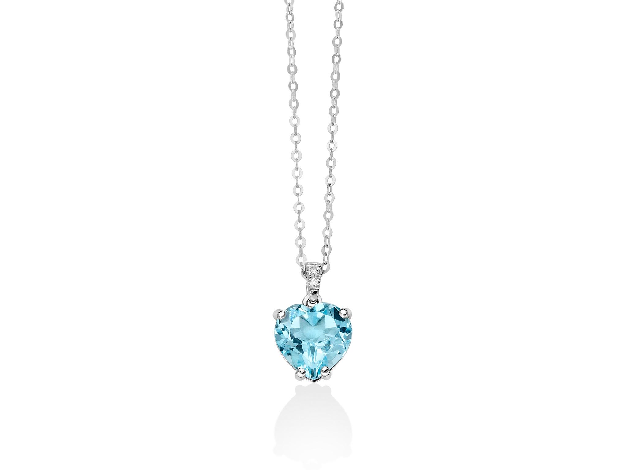 Collana oro, diamanti e Gemma del Cielo - CLD4109
