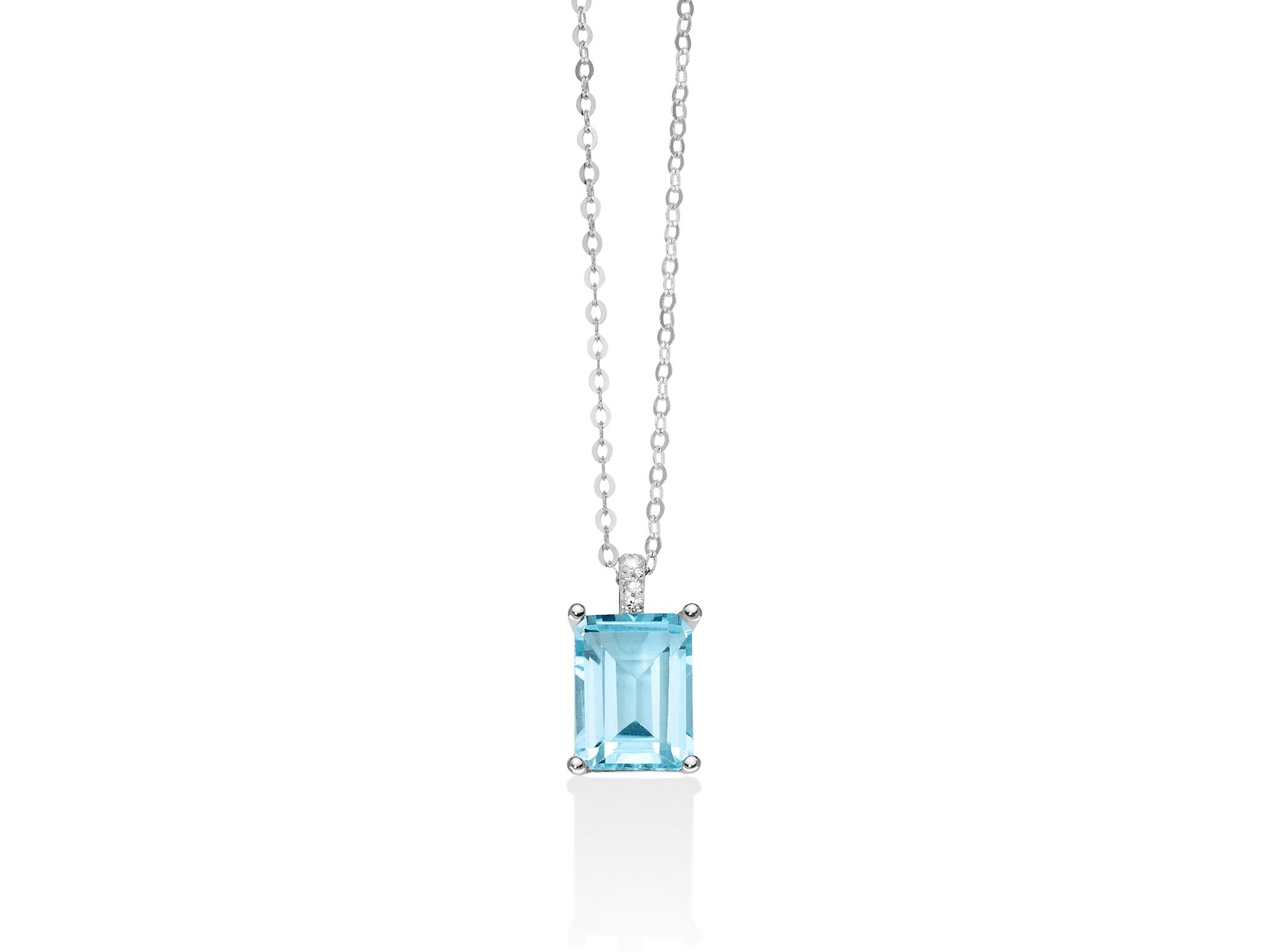 Collana in oro, Gemma del cielo e diamanti - CLD4110
