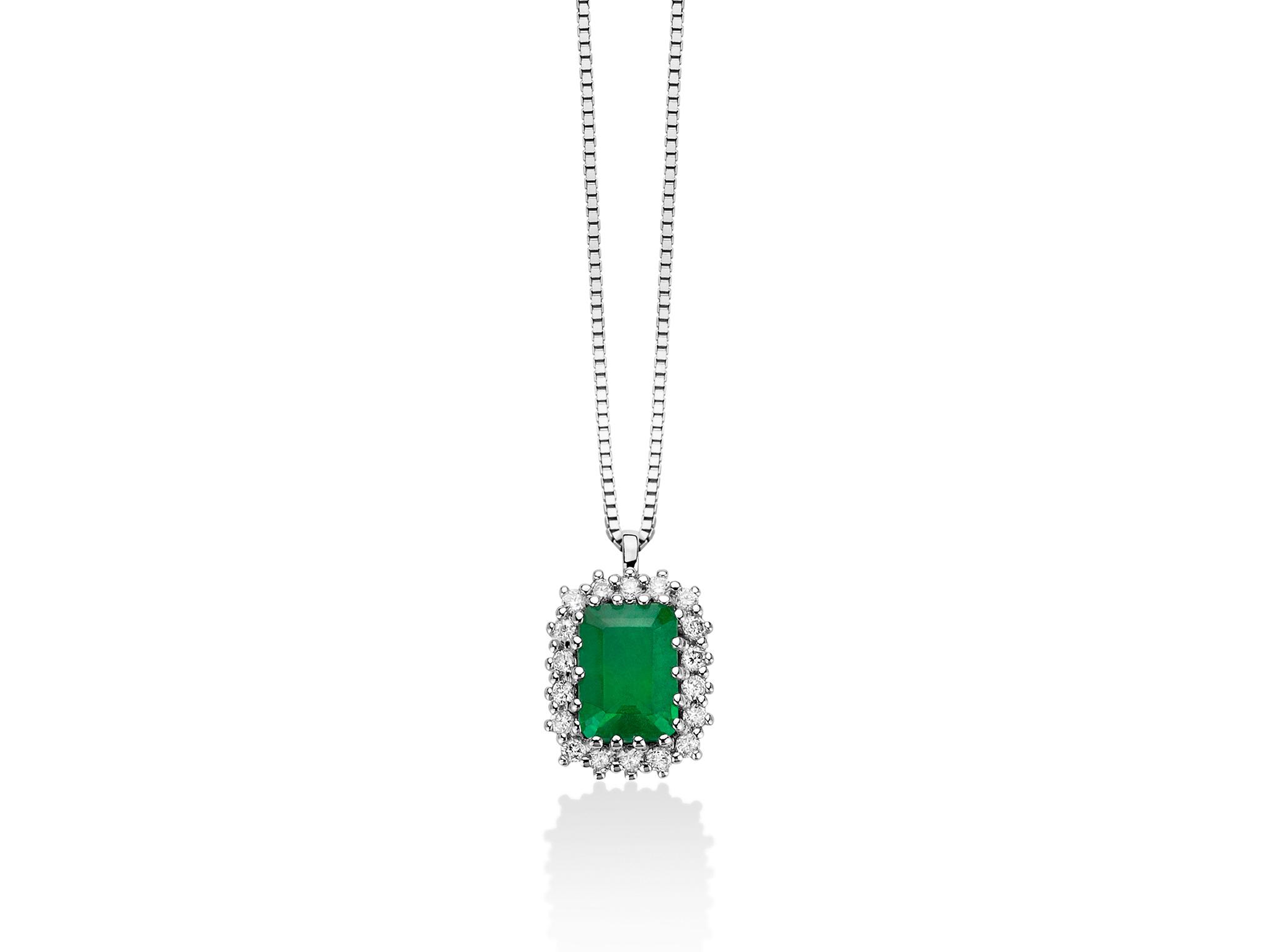 Collana smeraldo e diamanti - CLD4232