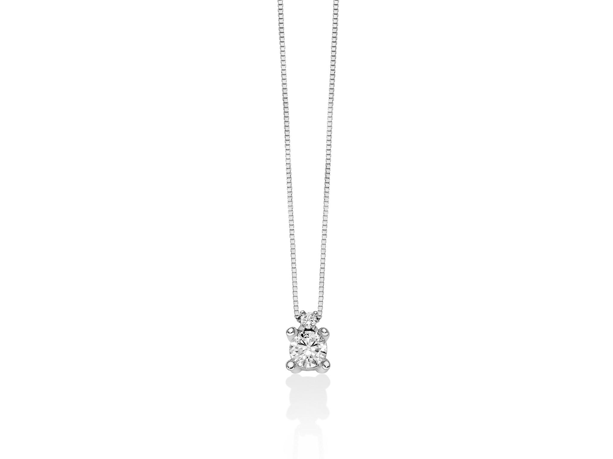 Punto luce in oro con diamanti. - CLD4240-024G7