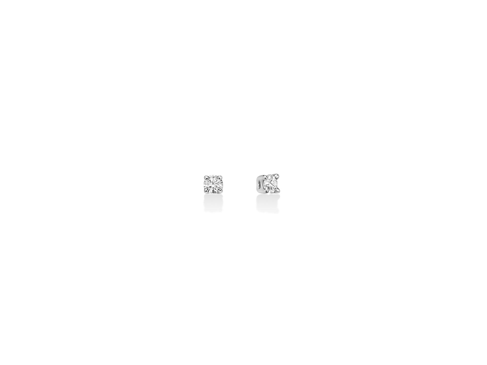 Orecchini punto luce con diamanti. - ERD2307-012G7