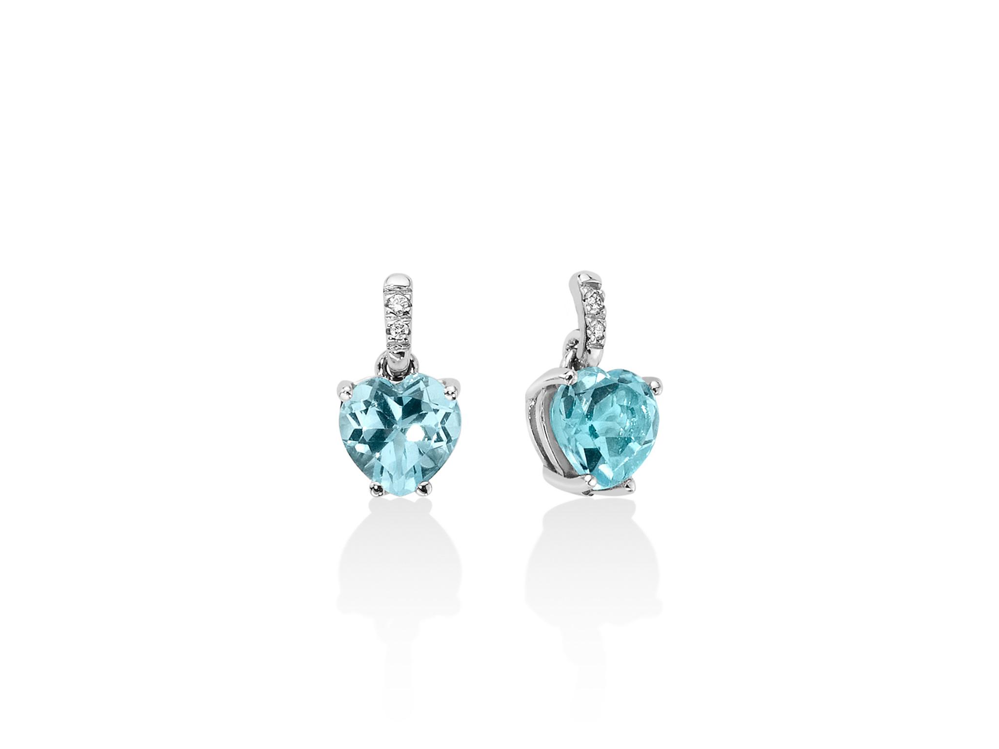 Orecchini oro, diamanti e Gemma del Cielo - ERD2407