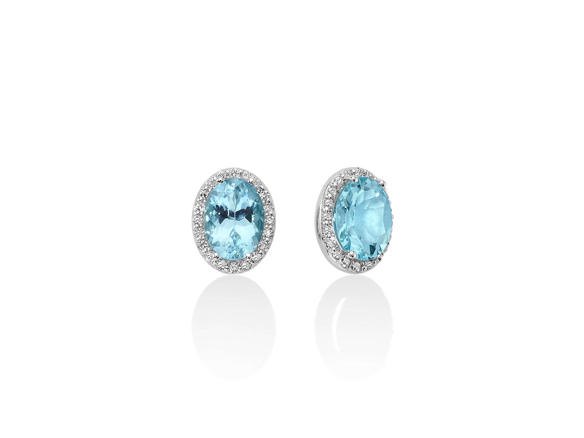 Orecchini diamanti e Acquamarina - ERD2411