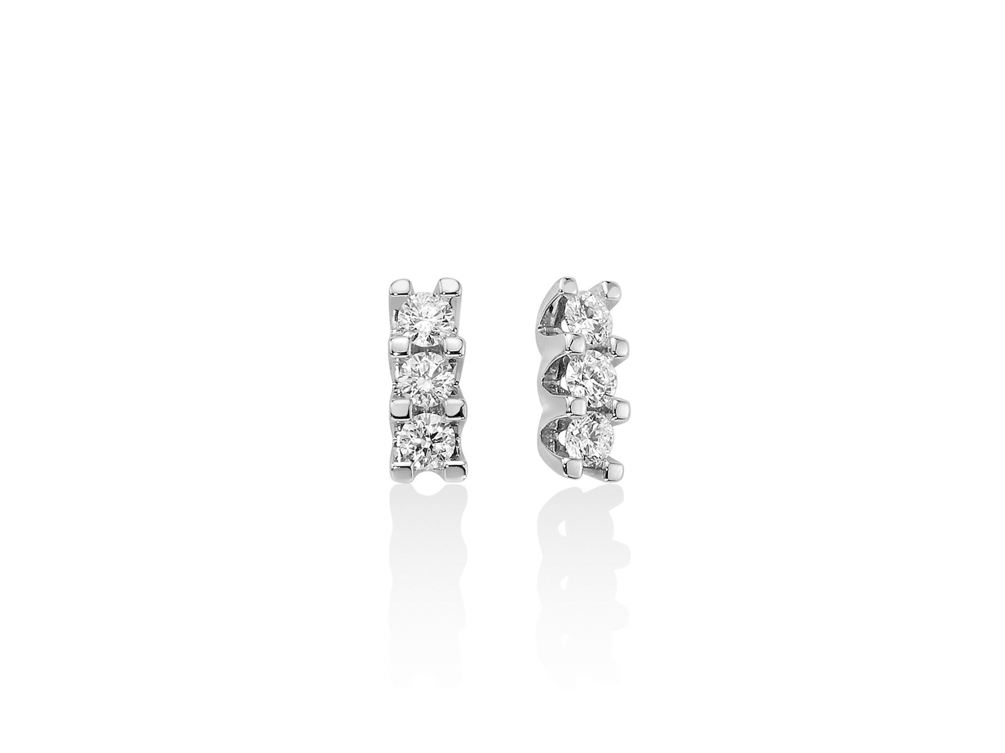 Orecchini trilogy oro e diamanti. - ERD2414-048G7