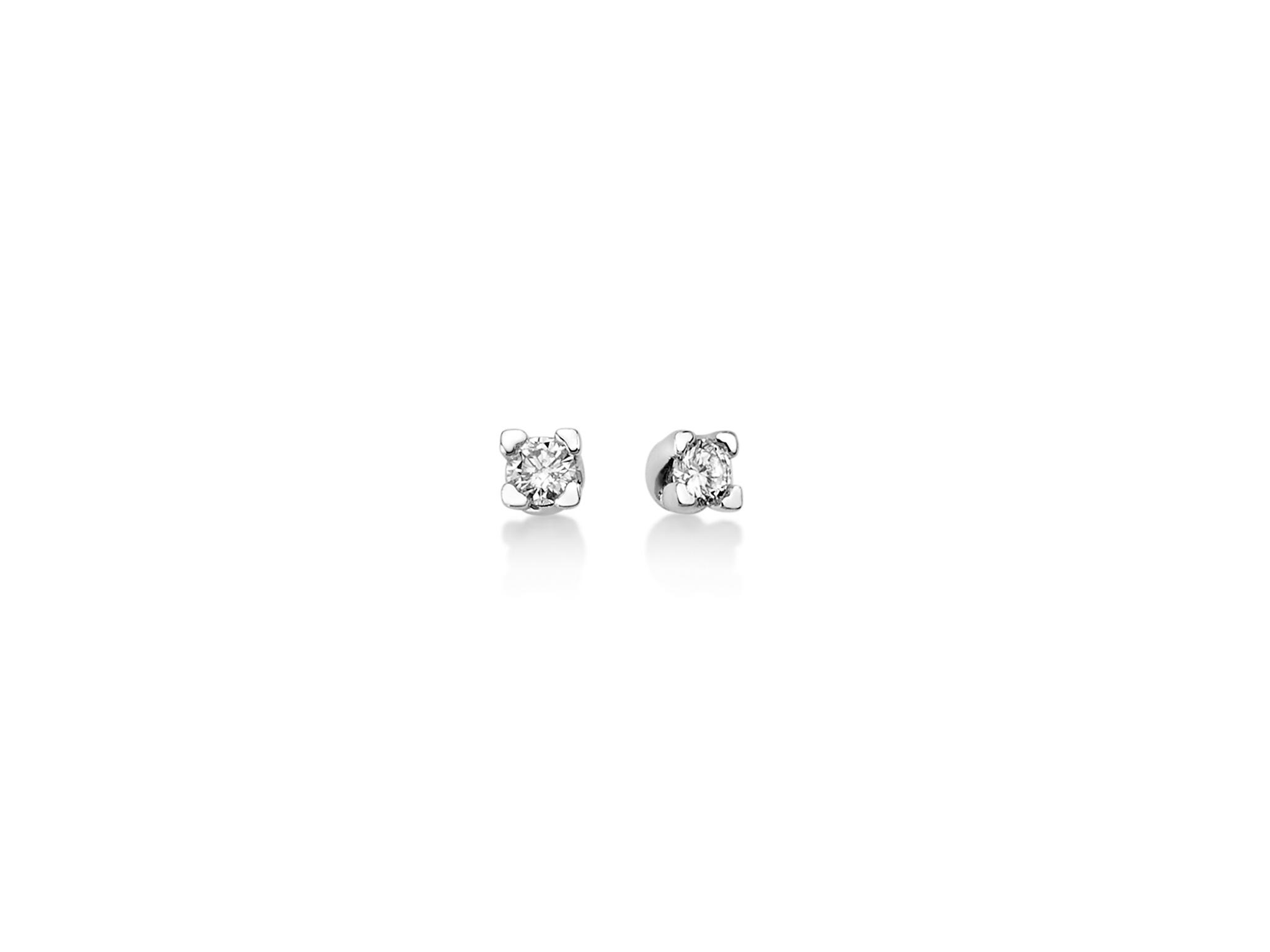 Orecchini 4 griffes cuore e diamanti. - ERD2421-010G7