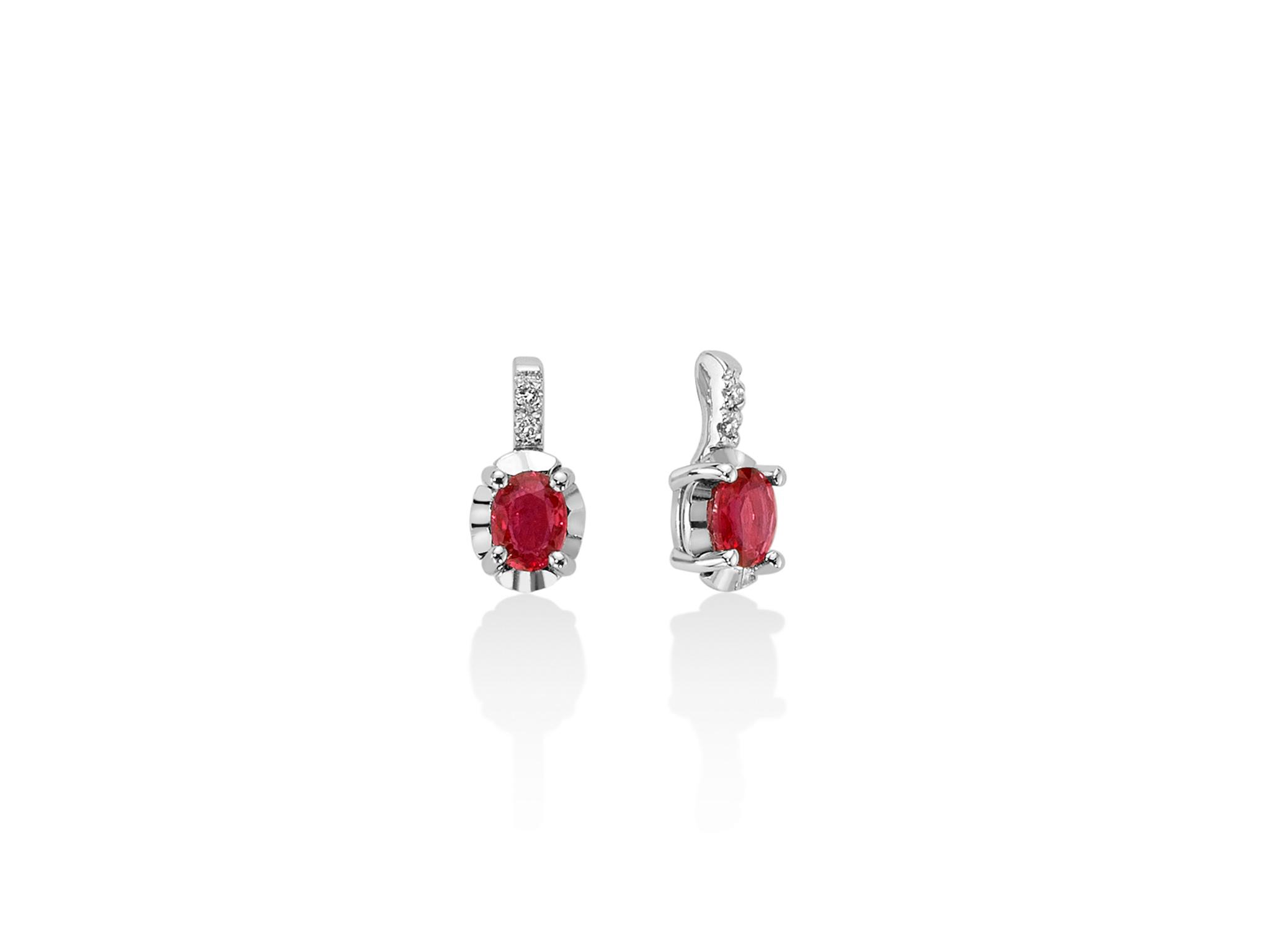 Orecchini con diamanti e Rubino - ERD2472
