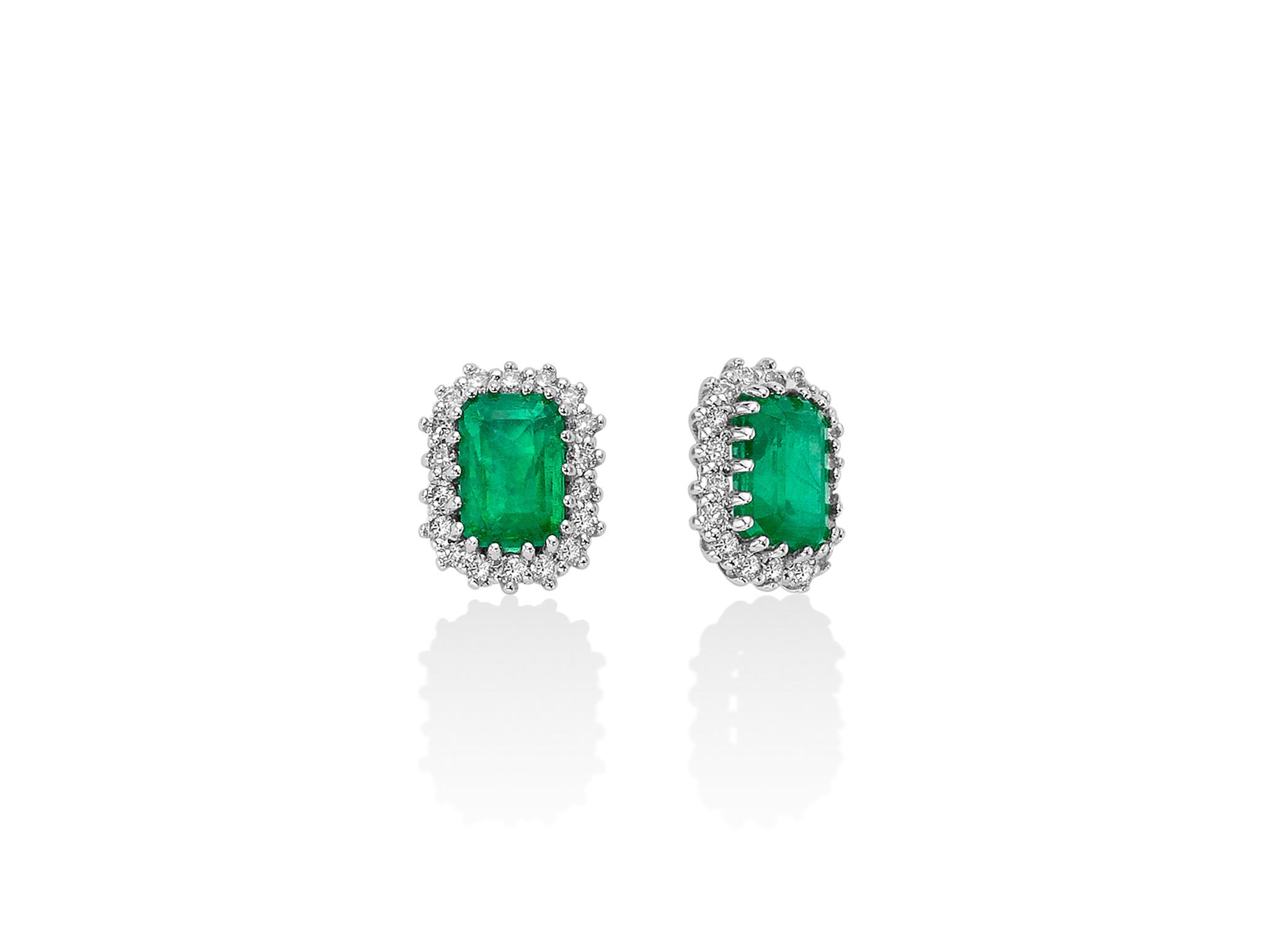 Orecchini smeraldo e diamanti - ERD2496