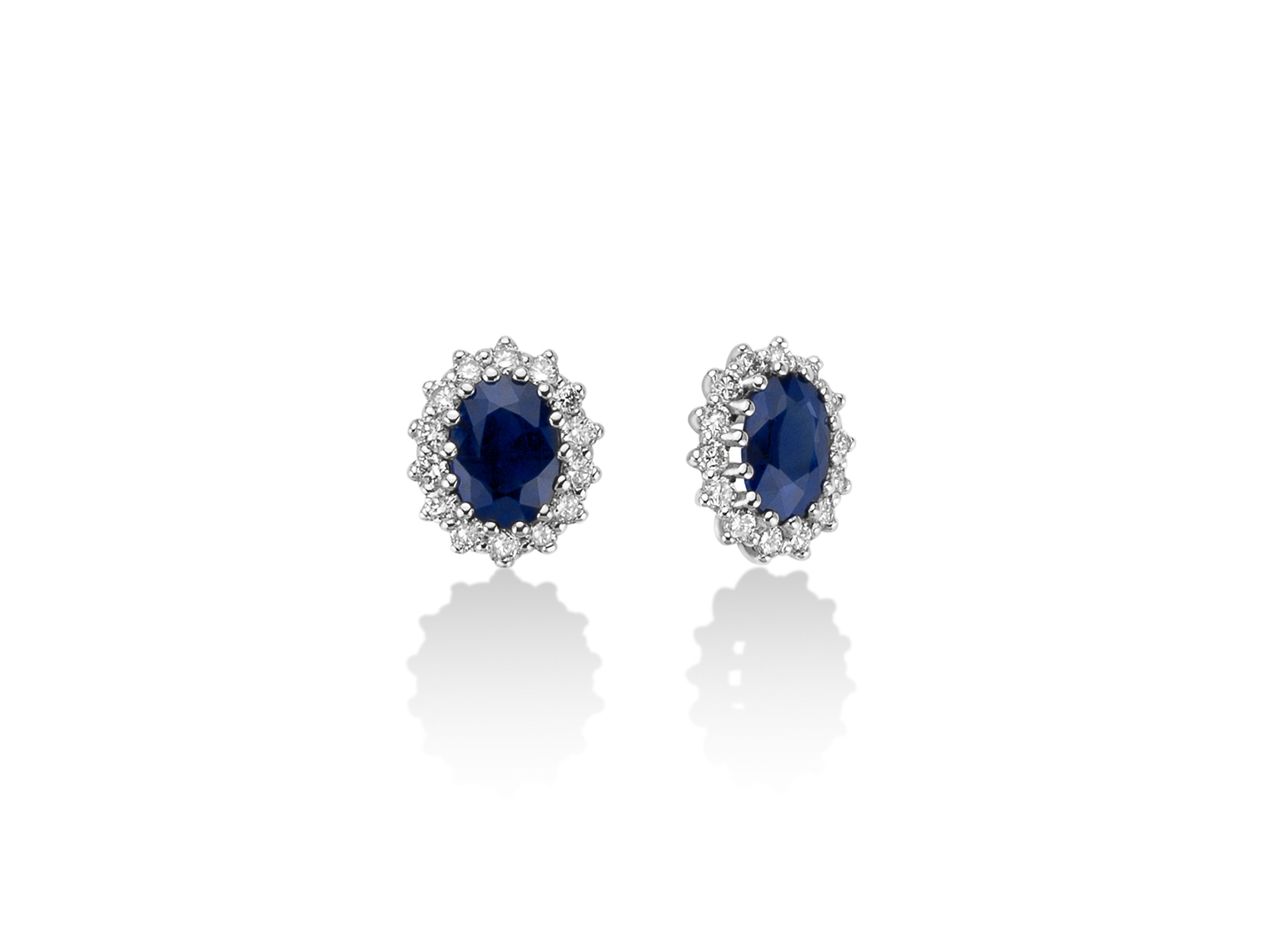 Orecchini in oro, diamanti e zaffiro. - ERD2498
