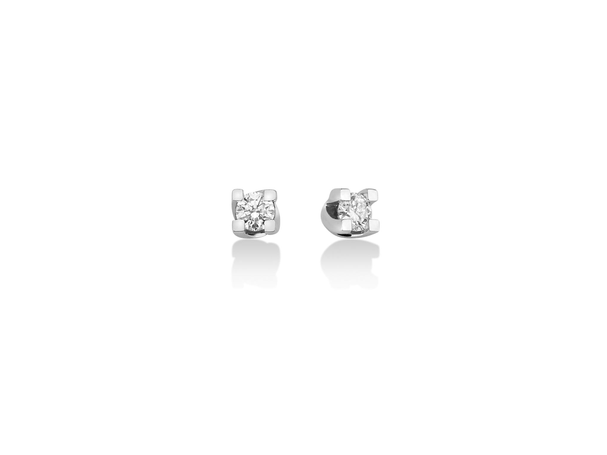 Orecchini punto luce in oro e diamanti. - ERD5068-007G7