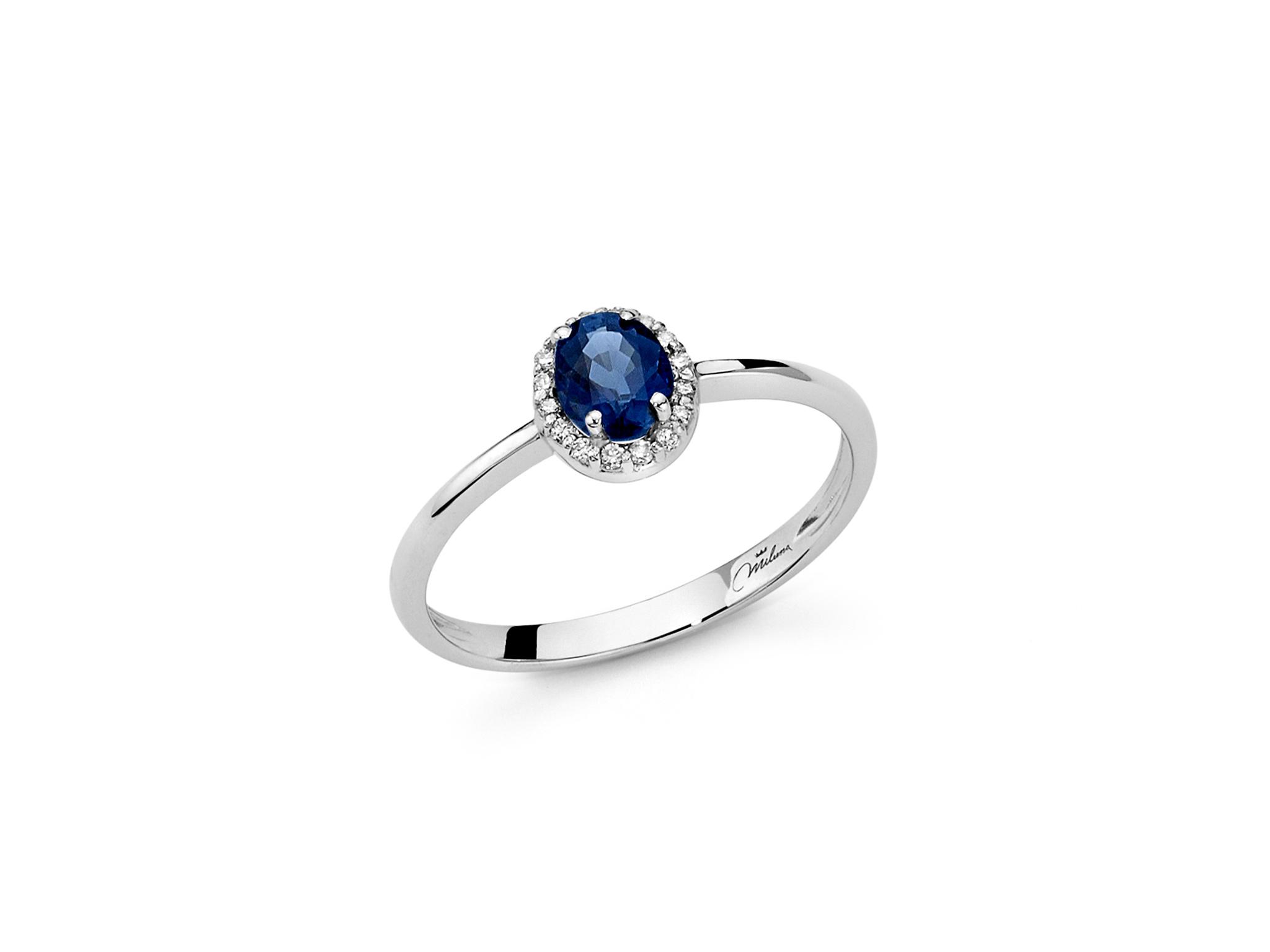 Anello oro, zaffiro e diamanti. - LID3266