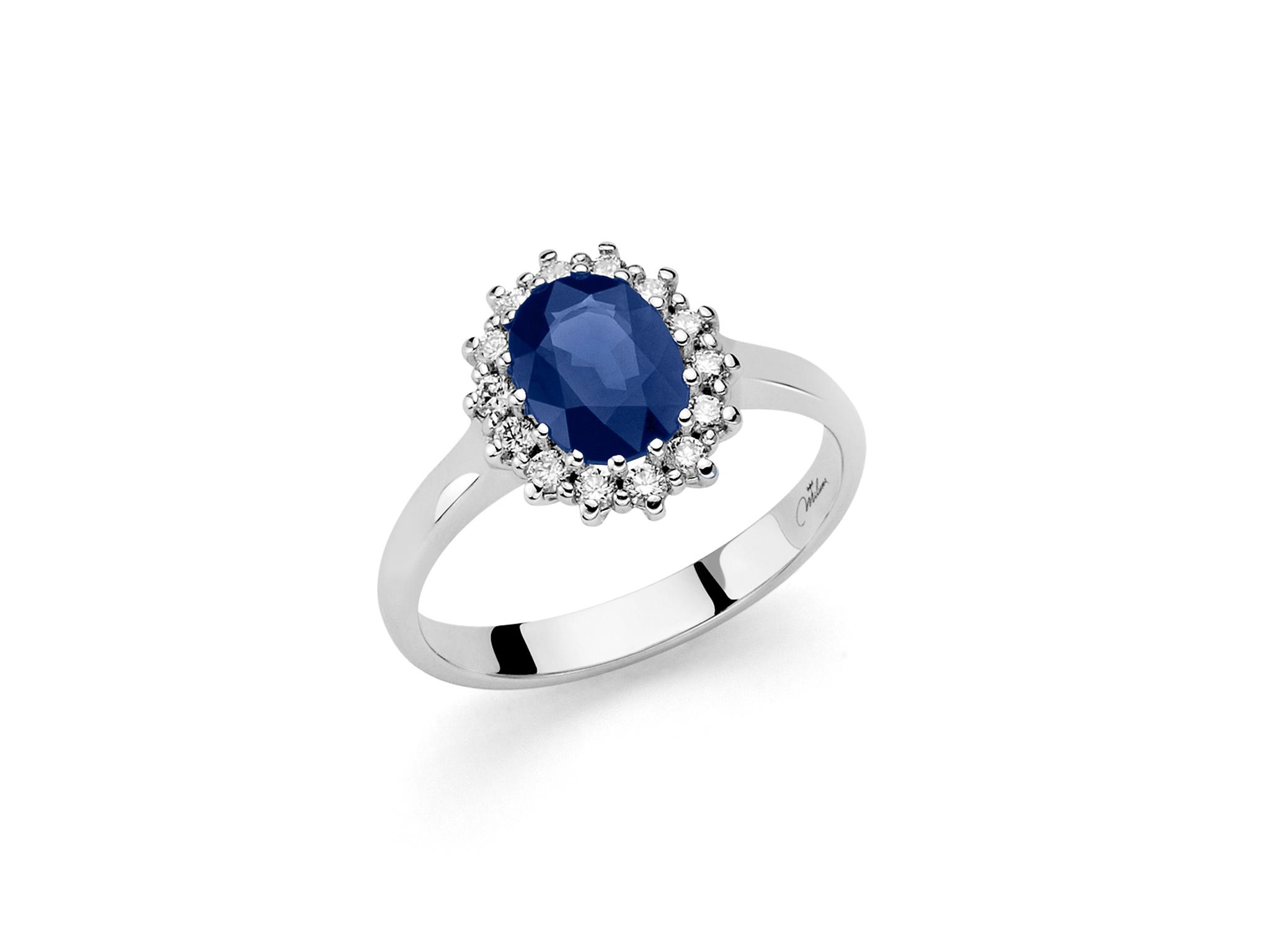 Anello oro, diamanti e zaffiro - LID3284