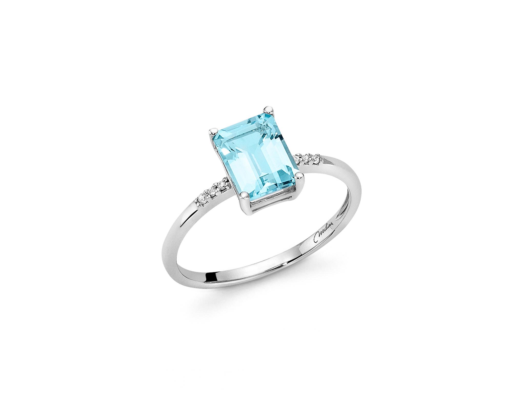 Anello gemma del Cielo e diamanti - LID3287