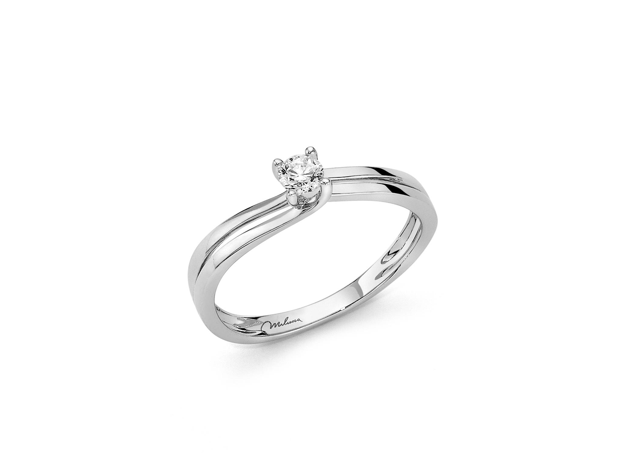 Solitario fantasia in oro e diamante. - LID3301-030G7