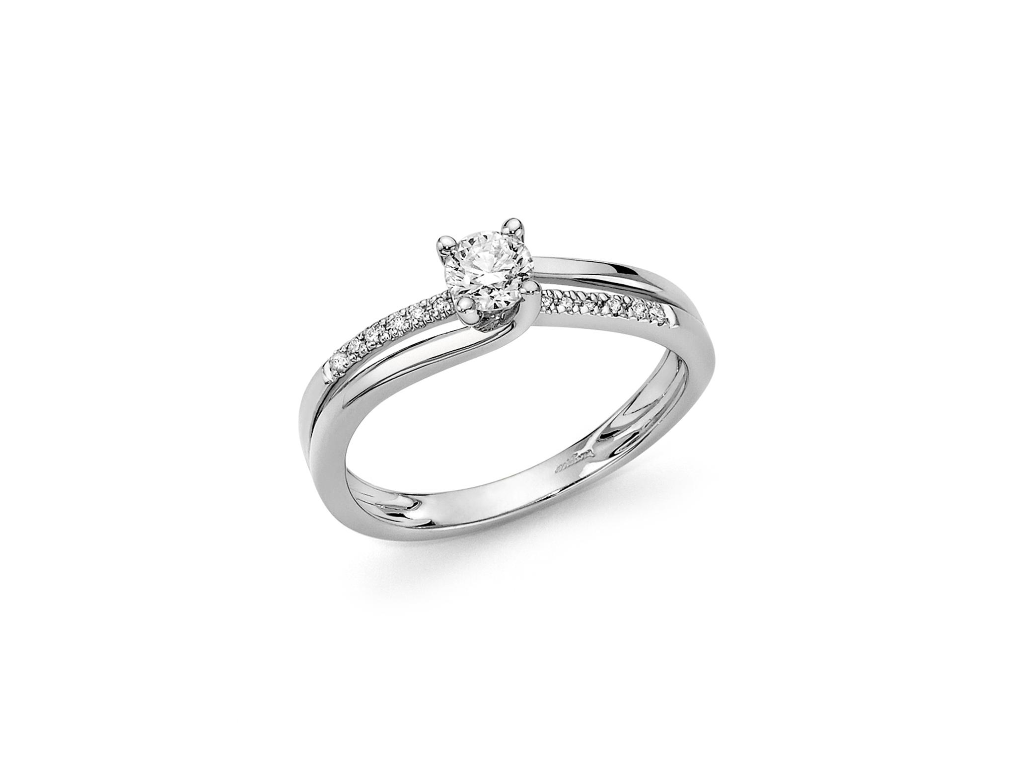 Solitario fantasia in oro e diamanti. - LID3302-030G7