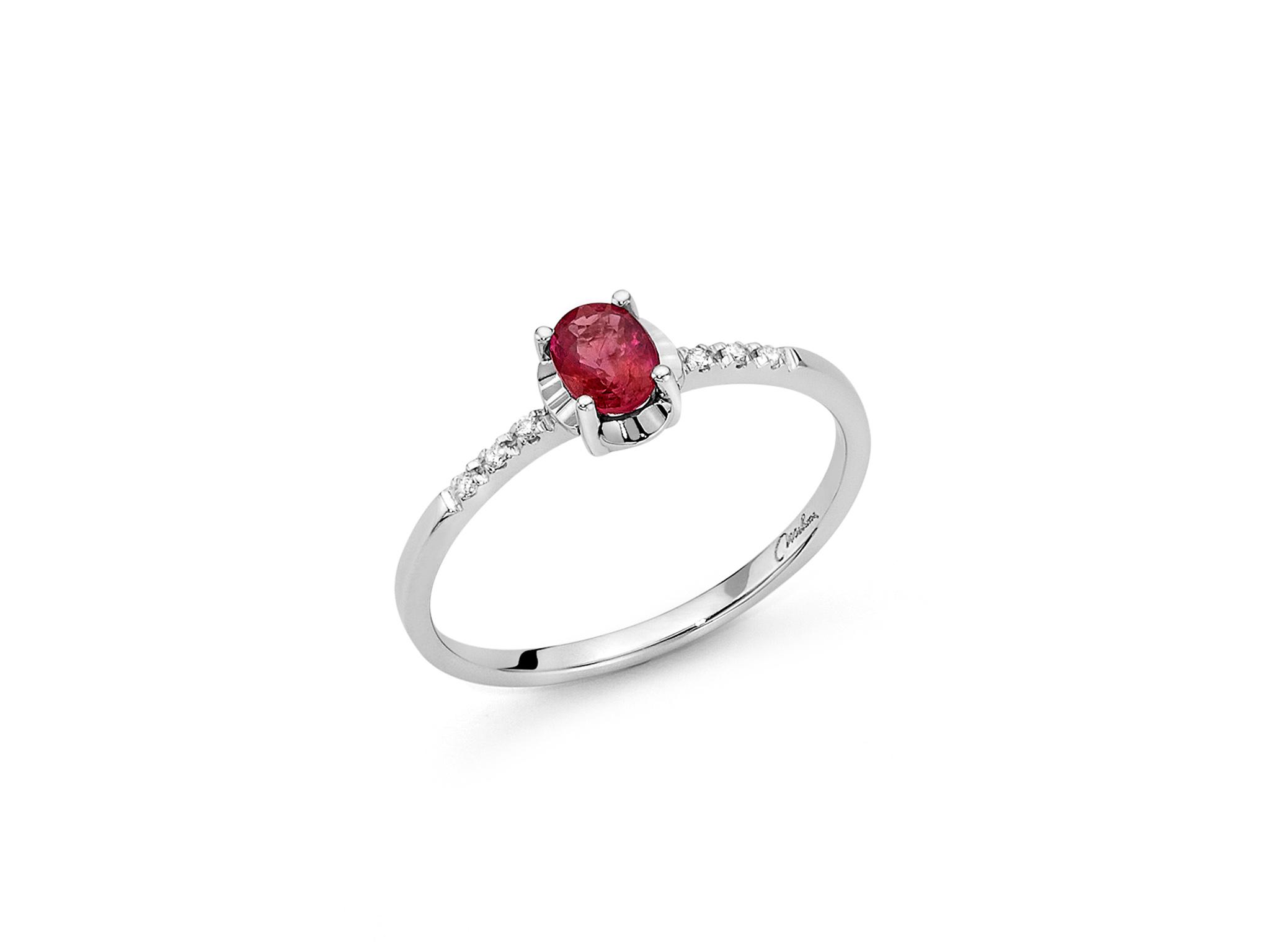 Anello con diamanti e Rubino - LID3361