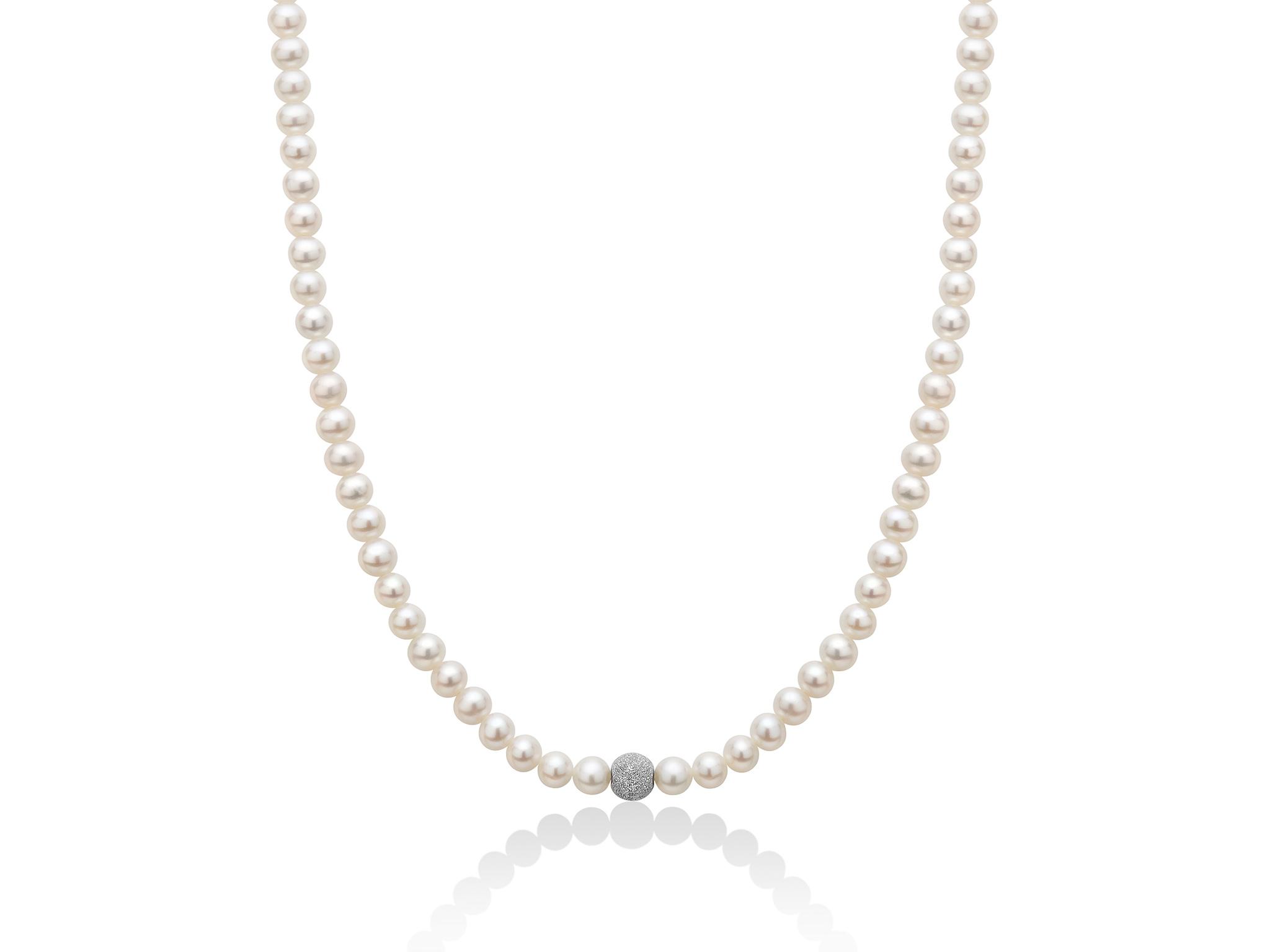Collana di perle Oriente con boule diamantata - PCL1834V