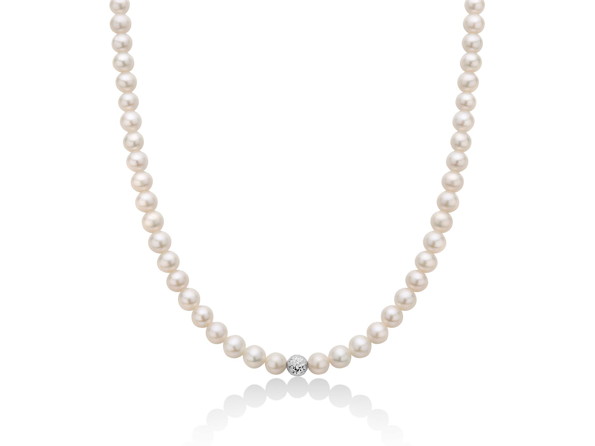 Collana di perle Oriente con boule in oro - PCL4979B