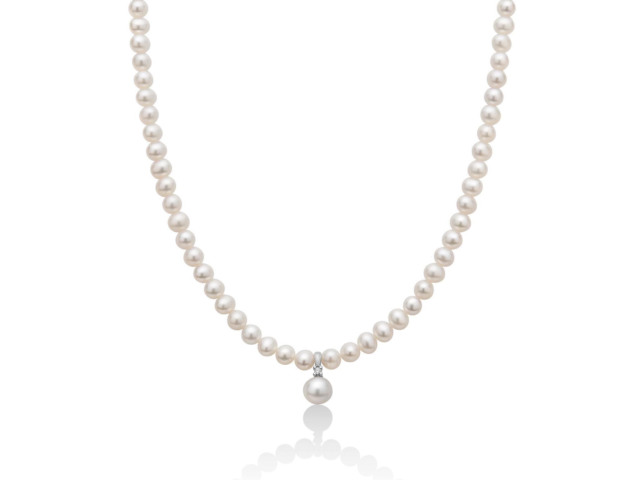 Collana di perle con pendente di perla. - PCL5528V