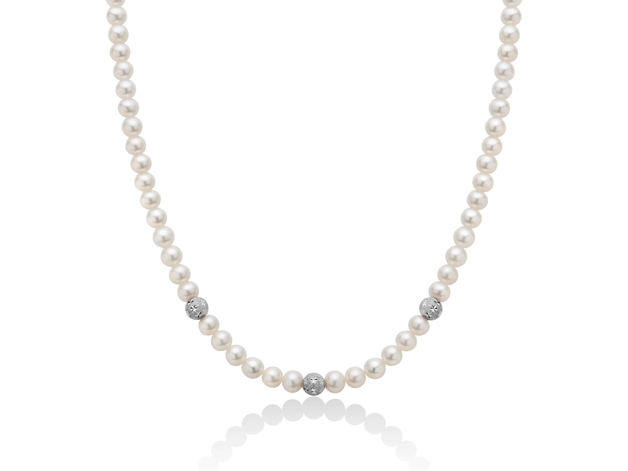 Collana di perle  con boule stellate in oro - PCL5534V
