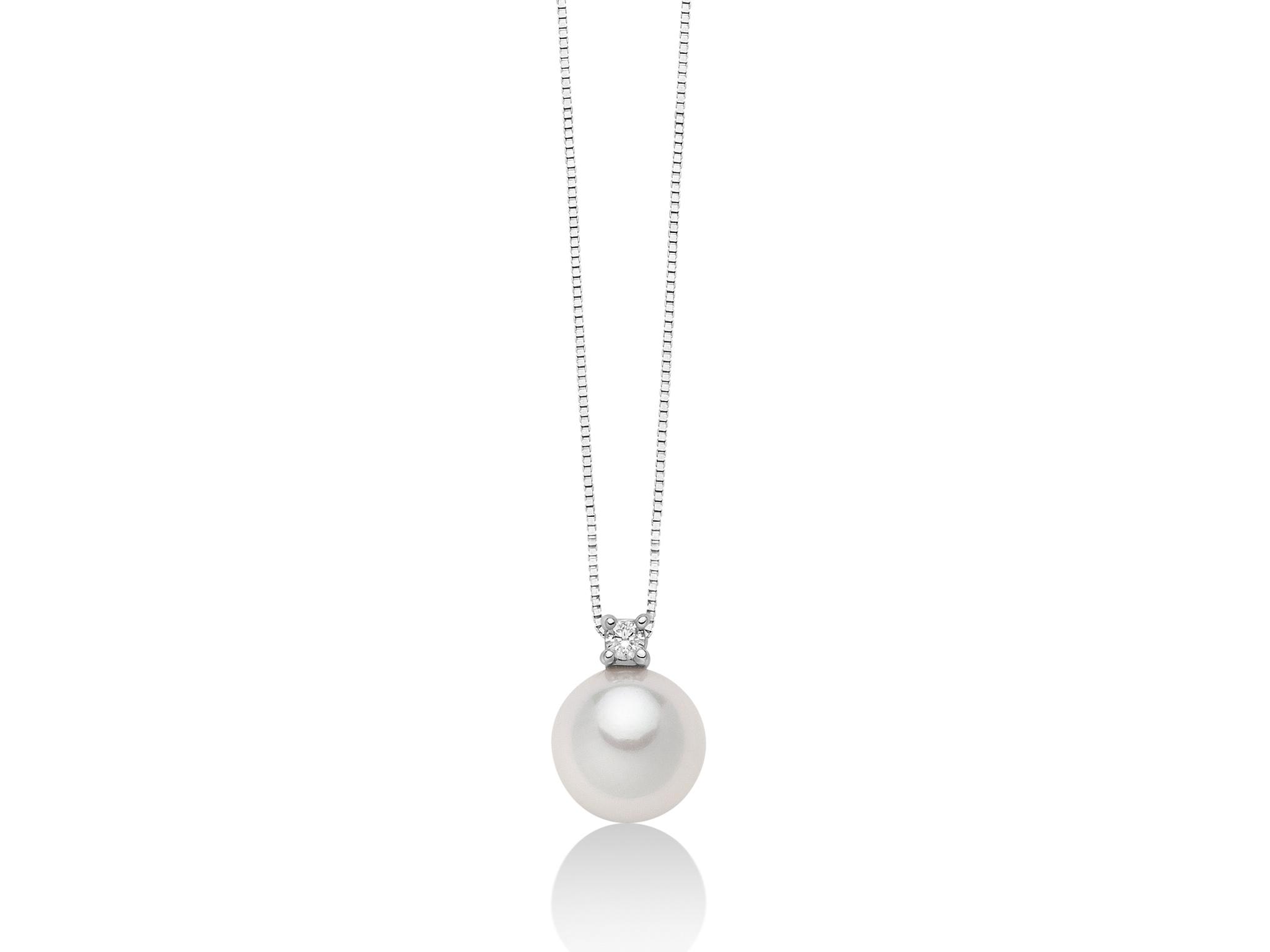 Pendente perla Akoya e diamanti. - PCL5619M