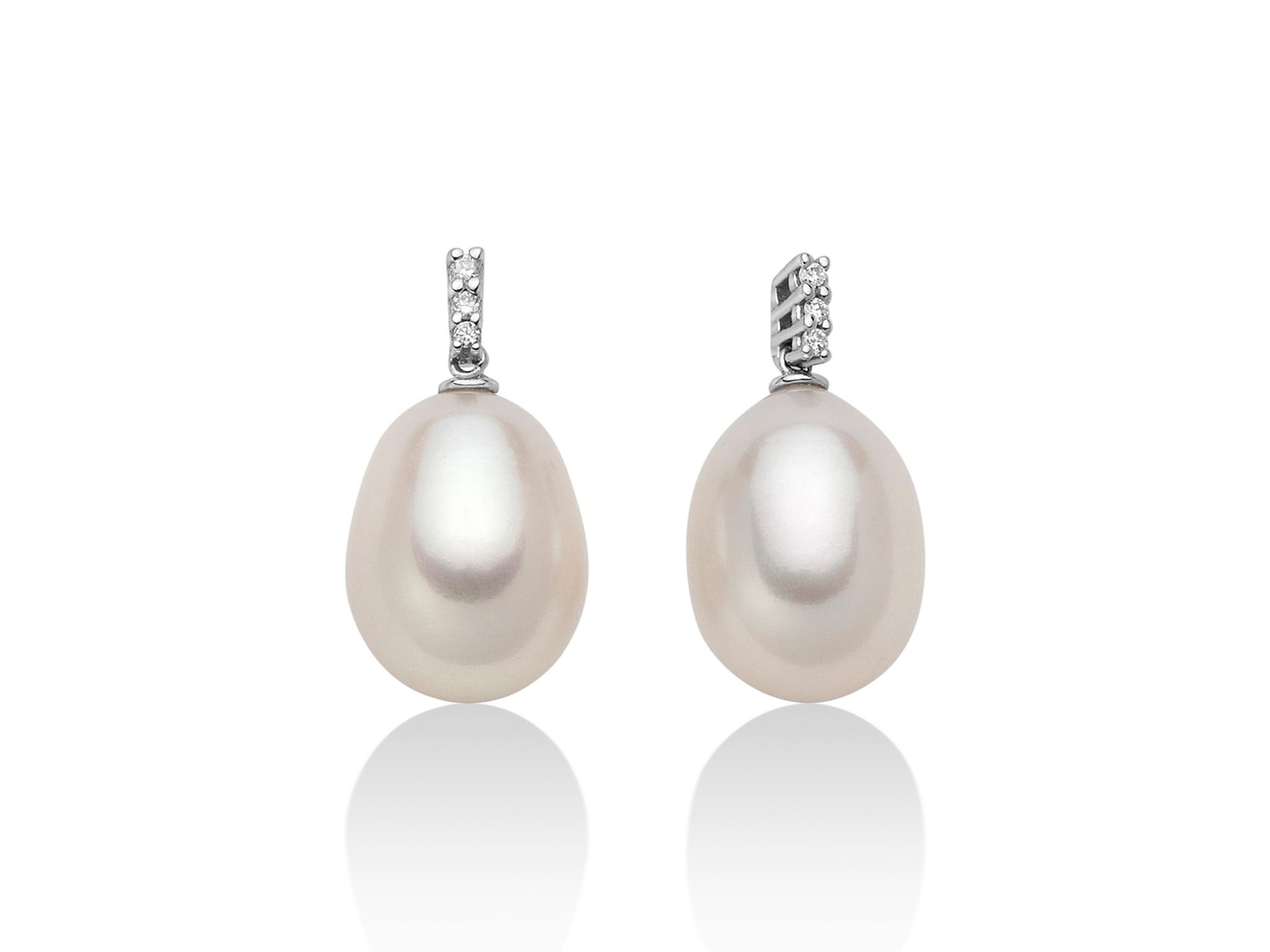 Orecchini in oro con perla Oriente a goccia - PER2102